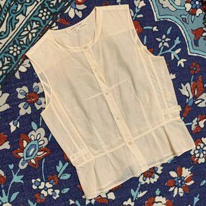 Marc Jacobs Cream Sleeveless Blouse, 2